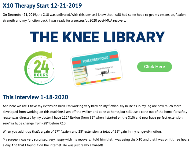 Website Slider - The KNEE LIBRARY
